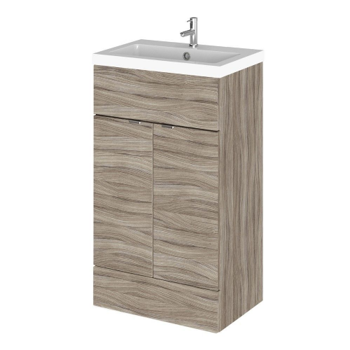 Elite Driftwood 500mm Full Depth Vanity Unit & Basin